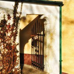 Eingang zum Gastgarten im Landgasthaus Thaler