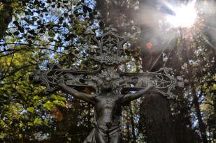 """Das """"Grabkreuz"""" in der Sommersonne"""