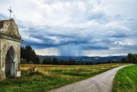 Regenwetter von oben betrachtet