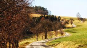 Straße nach Schlag bei Bromberg