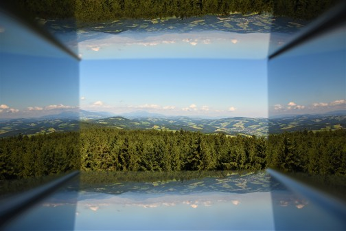 "Blick durch den ""Wiener-Alpen-Viewer"""
