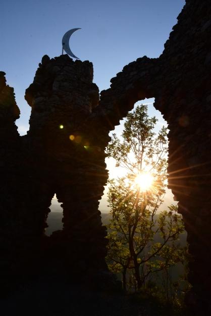 Abendstimmung in den Ruinen